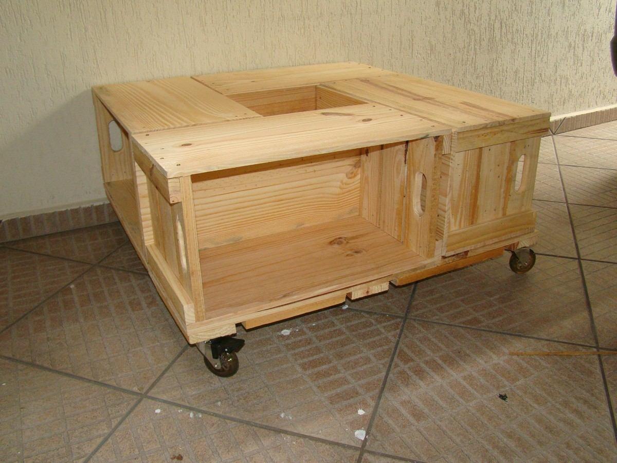 mesa de centro de caixotes fechado e rodizios 10016 MLB20024185431  #927439 1200x900
