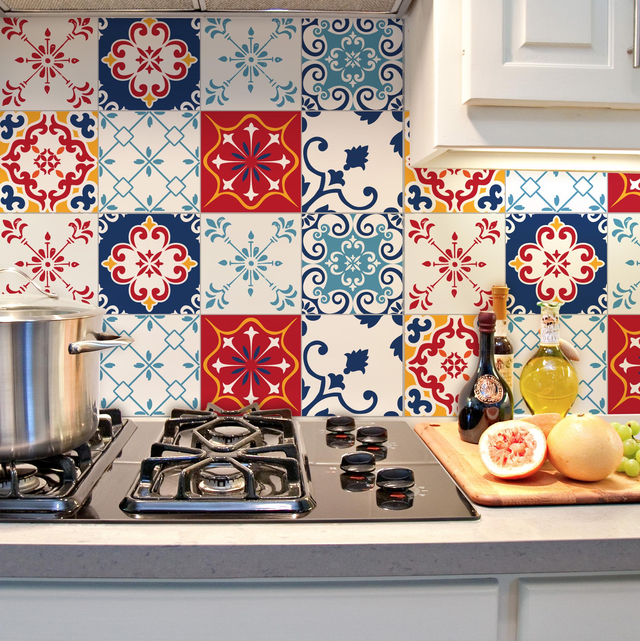 Decoração de cozinha com azulejo # Adesivo Para Azulejo De Cozinha Pode Molhar