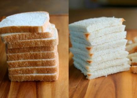 churro de pão de forma