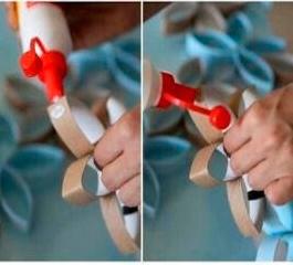 decoração com rolo de papel higiênico