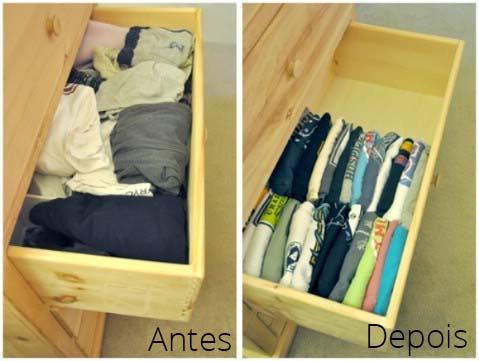 organizando gavetas