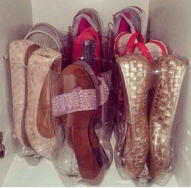 sapatos em garrafa pet